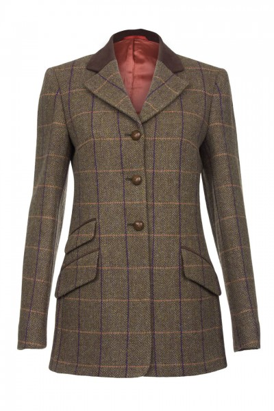 Eloise Harris Tweed Hacking Jacket in brown herringbone