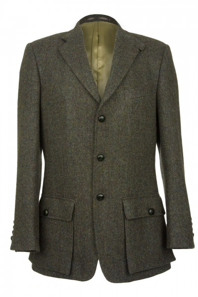 Gresham Harris Tweed Shooting Jacket in green