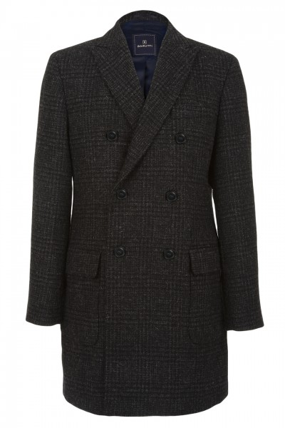 Morgan Double Breasted Coat in Charcoal Glen Check