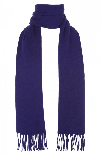 Plain Cashmere Scarf in violet