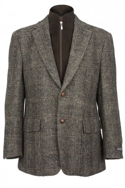 Clayton Harris Tweed Jacket in brown herringbone