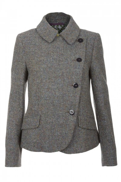 Abigail Harris Tweed Jacket in green with blue & heather tones