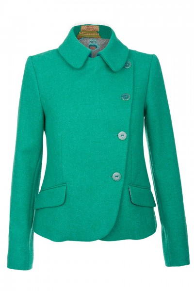 Abigail Harris Tweed Jacket in jade green