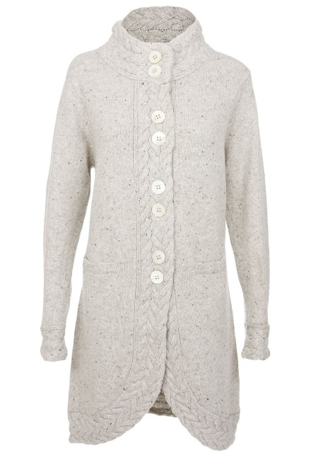 Ladies Long Cardigan at The Harris Tweed Company Grosebay , Exclusive  Harris Tweed