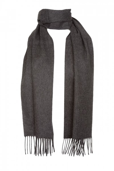 Plain Cashmere Scarf in charcoal