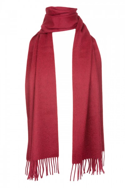 Plain Cashmere Scarf in claret red