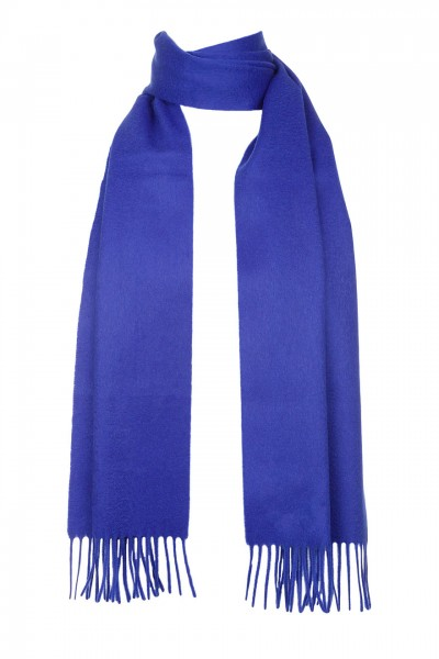 Plain Cashmere Scarf in electric blue