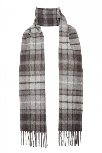 Tartan Lambswool in grey Buchanan