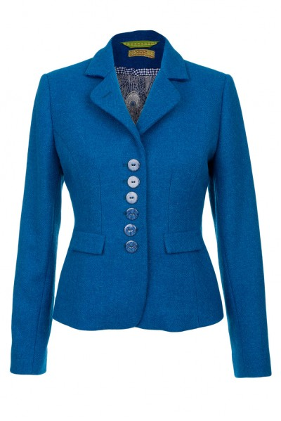 Amy Harris Tweed Jacket in Jade Green