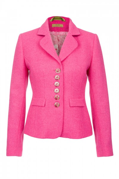 Amy Harris Tweed Jacket in pink