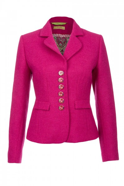 Amy Harris Tweed Jacket in fuchsia
