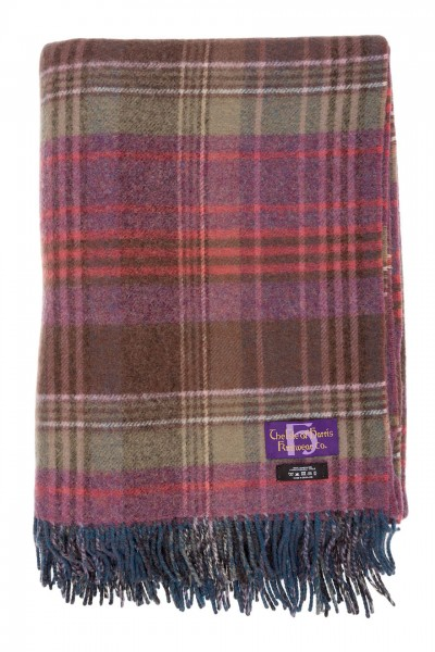 Lambswool Reversible Throw in heather