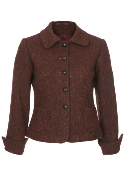 Jemima Short Jacket in red rust