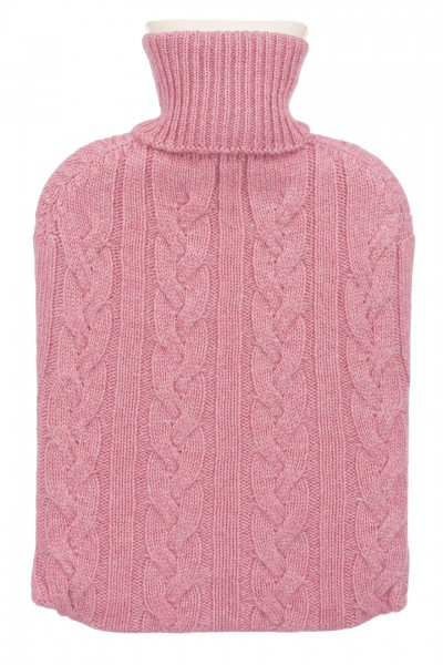 Hot Water Bottle & Cashmere Cover in pink