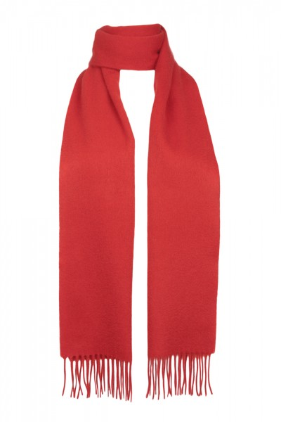 Plain Cashmere Scarf in red